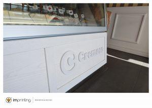gelateria ristrutturazioni vetrofanie logo roma