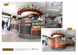 bar restyling bancone riqualificazione ladispoli