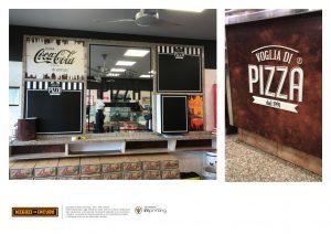 pizzeria restyling pannello insegna acilia