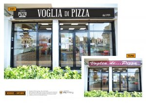 pizzeria restyling vetrofanie insegna acilia