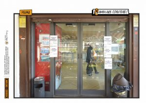 restyling ristrutturazione bancone vetrofanie