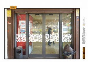 restyling ristrutturazione bancone vetrofanie prespaziate