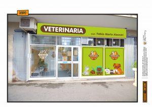 restyling veterinaria pet vetrofanie insegne